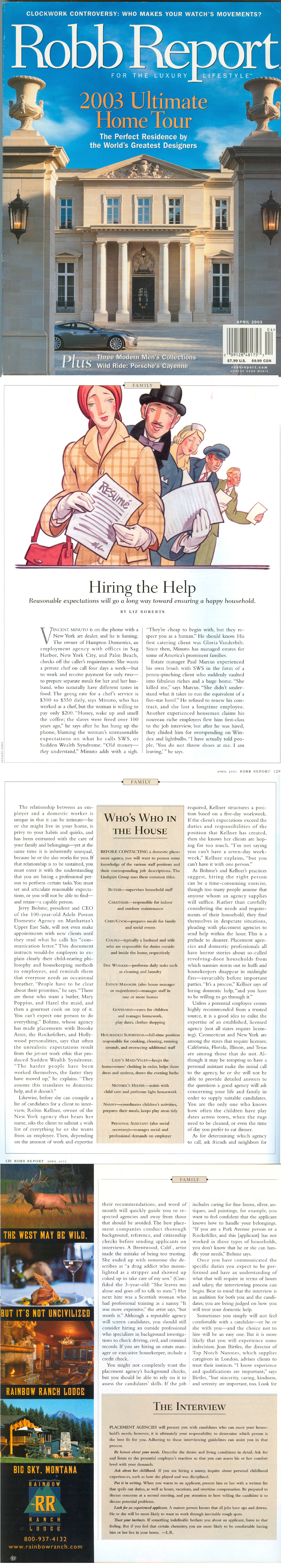 Robb Report 2003 Article